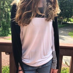 Color block long sleeve top😊